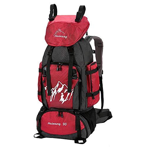 Mountaineering Hombres Bag Para Outdoor Caminar 90l Nuevo Mujeres Rojo Mochila n80OkwP