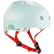 Rio Roller Skate/Derby/Inline/niños/adultos patinaje Script–Casco, color azul