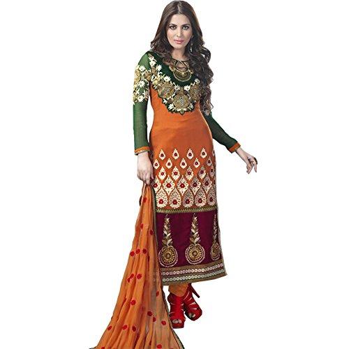Pakistani Dress Sherwani Style Salwar Kameez Straight Cut Dress