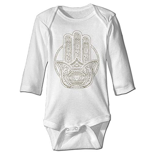Encounter2019 Henna Hamsa Baby Onesie Baby Kids Long Sleeve Screen Print Graphic Funny Novelty Romper 12M Screen Print Romper