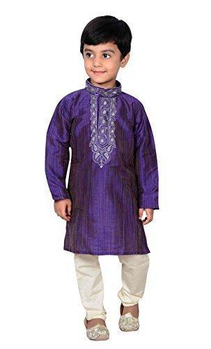 Desi sarees blau Indien Pakistan Jungen Sherwani Kurta Churidar Kameez für bollywood-thema & Party Hochzeit 857 (blau) - Blau, 0 (6 months to 1 yrs)