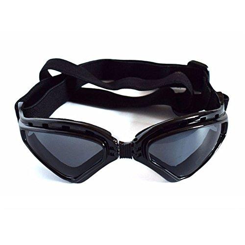 Aprigy - Gut Aussehend Hundesonnenbrillen windundurchl?ssige Wasserdichte UV Schutzbrillen Tiere Hunde Welpen Brillen Sonnenbrillen Faltbare Hundezubeh?r [Schwarz ]