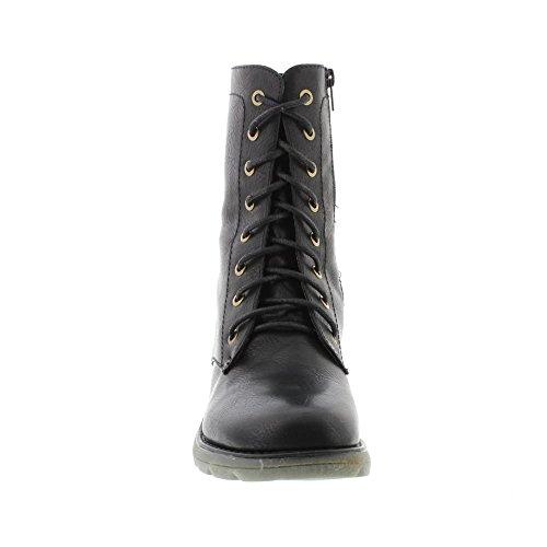 Heavenly Feet Womens Walker 2 Bottes Noir Noir