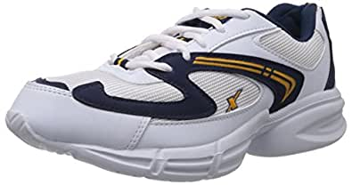 Sparx Men's White and Navy Blue Running Shoes - 6 UK (SX0173G)