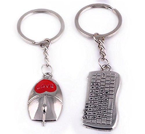 kentop Couple Keychain Keyring Schlüsselanhänger Key Chian Paket Tastatur Mouse Geschenk der Liebe für Freunde und Braut-Geschenke Valentinstag