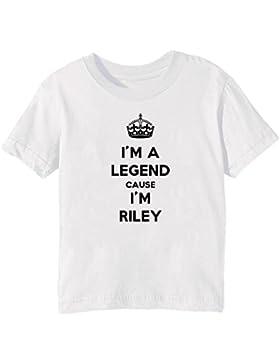 I'm A Legend Cause I'm Riley Bambini Unisex Ragazzi Ragazze T-Shirt Maglietta Bianco Maniche Corte Tutti Dimensioni...