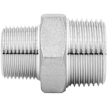 Raccord manchon double filetage externe m/âle acier inoxydable V4 A