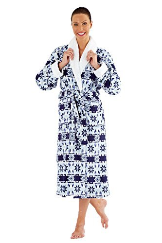 Grenouillère adulte polaire avec capuche Femme - pyjama Bleu - Robe