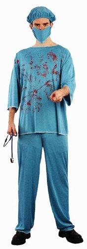 Mens blutige Chirurg Ärzte Scrubs Uniform Halloween Kostüm OUTF