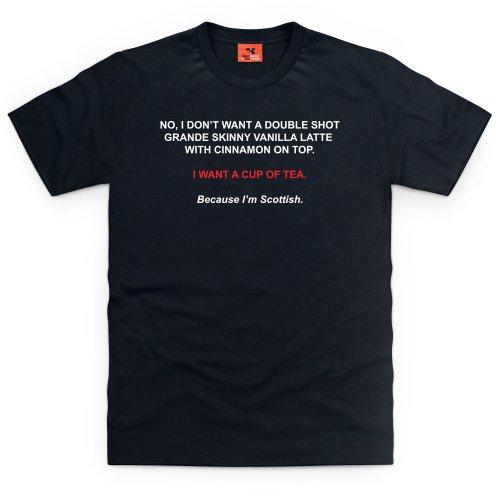 Nice Cup of Scottish Tea T-Shirt, Herren Schwarz