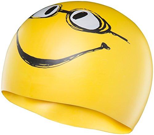 TYR Erwachsene Badekappe Have Nice Day, Yellow, One Size, LCSMILEY