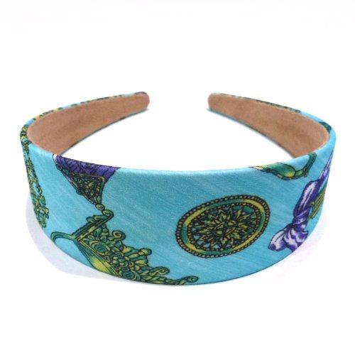 rougecaramel - accessoires cheveux - Serre tête/headband large imprimé - bleu