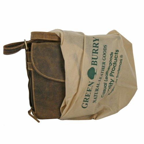 Greenburry Vintage Umhängetasche Leder 20 cm Sattelbraun