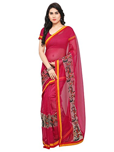 Blissta Pink Cotton Kanjivaram Work Saree