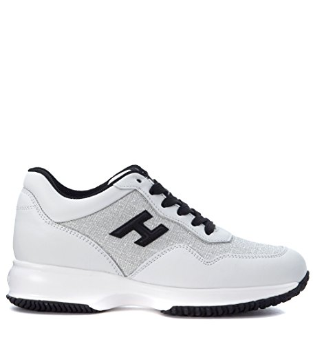 Sneaker Hogan Interactive in pelle bianca Bianco