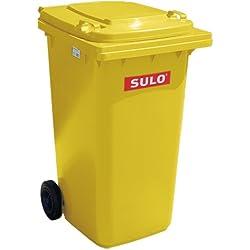 Müllbehälter, Inhalt 80 Liter, gelb