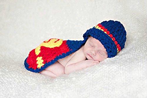 Baby Häkelkostüm Strick Kostüm Fotoshooting Baby Fotos Superman Hero (Baby Kostüme Superman)