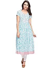 STOP To Start By Shoppers Stop Womens Round Neck Printed Kurta
