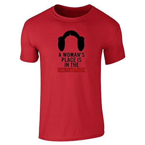 Pop Threads Herren T-Shirt Rot
