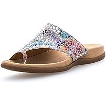 Gabor 83.700-39 Damen Pantolette Aus Nubukleder Vorgeformte Fußbett Lederfutter, Groesse 37, Bunt