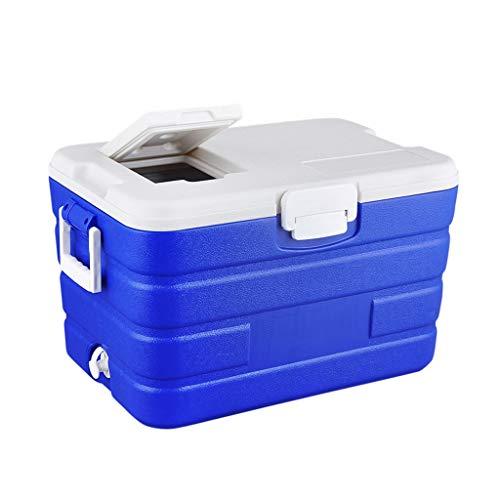 UCYG 40L Grande Cooler Cool Box con Enfriamiento y Preservación, portatil Nevera termoeléctrica Rígida para Acampada Senderismo Coche Playa, 57x37.5x34cm, Azul