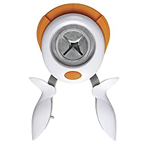 Fiskars 5852 Squeeze Punch Perforatrice de Coin 3-en-1 Radiant Blanc
