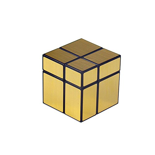 Wings of wind - Smooth 2x2 Spiegel Zauberwürfel ShengShou Aufkleber Cube 2x2x2 Magic Cube Puzzle (Golden)