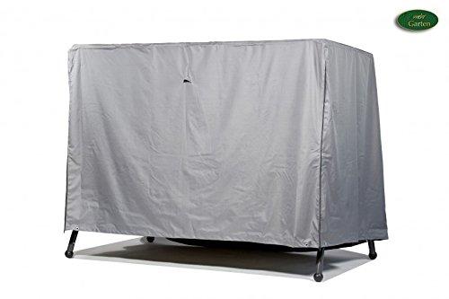 Premium Schutzhülle für Gartenschaukel/Hollywoodschaukel aus Polyester Oxford 600D - lichtgrau - von \'mehr Garten\' - für 3,5-Sitzer (Breite: max. 250cm)