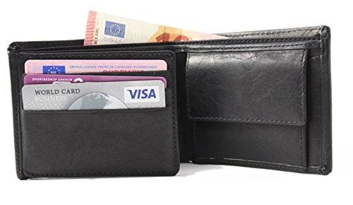 Safekeepers Geldbörse mit kette RFID Biker Herrengeldbörse Leder Geldbeutel Geldtasche mit zuverlässiger RFID /NFC Schutztechnologie Schwarz mit Victorinox Kette