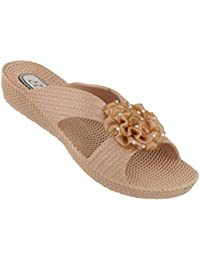 1ef63ee78325 Ella Womens Nicki Low Wedge Slip On Sandals in a Choice of Colours
