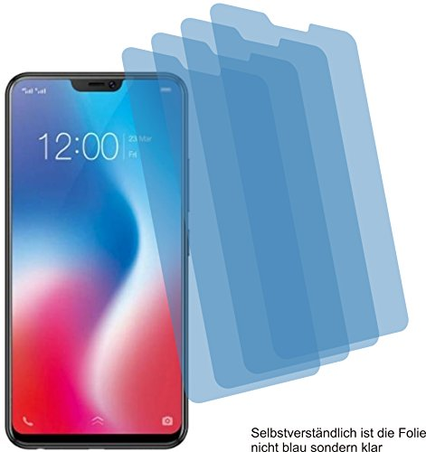 4ProTec 4X Crystal Clear klar Schutzfolie für Vivo V9 Youth Bildschirmschutzfolie Displayschutzfolie Schutzhülle Bildschirmschutz Bildschirmfolie Folie
