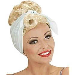 WIDMANN Peluca Pin-up Rockabilly rubia con foulard adulto Cualquier día