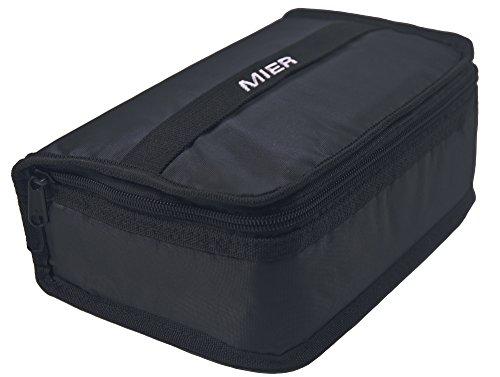 Mier lunch box bag food storage raffreddamento borse termiche kit da viaggio per le donne e gli uomini, set di 1 (1pc nero)