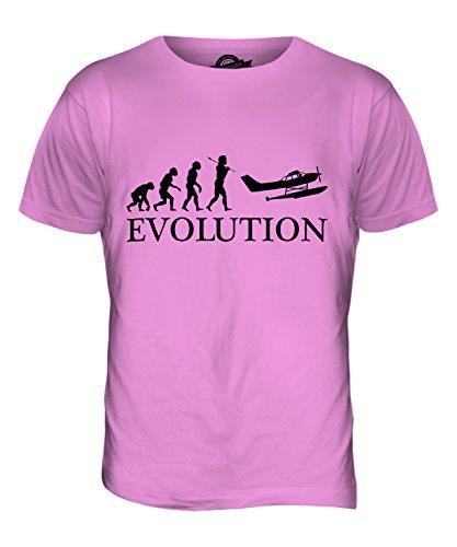 CandyMix Wasserflugzeug Evolution Des Menschen Herren T Shirt Rosa