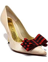 Pretty Pink Toes - Decoración de zapatos de Poliéster Marfil perla talla única