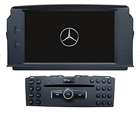 LIKECAR HD 1024 * 600 Android5.1 Full Touch Screen Autoradio GPS Auto Stereo Auto Radio GPS Auto Audio Player für Mercedes-Benz C Klasse W204 C180, C280K, C200, C200K, C220, C280, C300, C350, C63 mit BT Radio GPS 3G Wifi Android Mirror Link