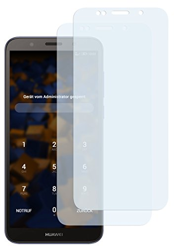 mumbi Schutzfolie kompatibel mit Huawei Y5 2018 Folie klar, Bildschirmschutzfolie (2x)