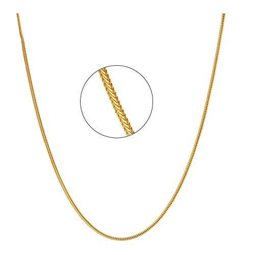 Mahi Exa Collection Gold Plated Foxtail Thick Men's Chain CN6012001G