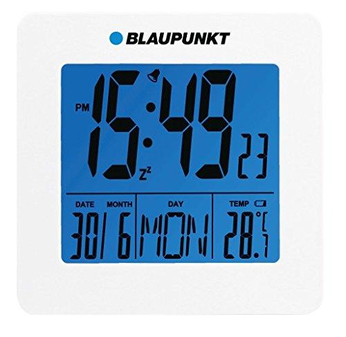 Blaupunkt CL02WH Wecker mit LCD-Display Thermometer, Datum, Uhr weiß
