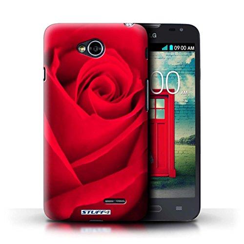 Kobalt® Imprimé Etui / Coque pour LG L70/D320 / Clair Rose conception / Série floral Fleurs Joli Rose Rouge