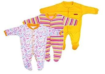 4f67f5d4a3ba Baby Grow New Born Baby Multi-Color Long Sleeve Cotton Sleep Suit ...