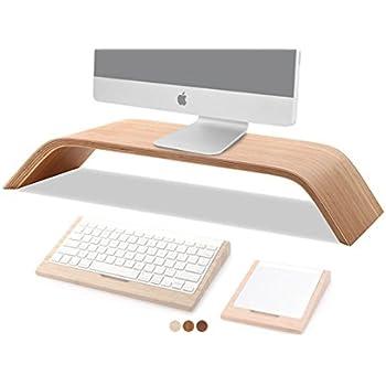 samdi notebookstnder universal desktop halterung computer monitorerhhung bambus stnder unterlage monitorstnder fr imac pc notebook laptop - Computertisch Fr Imac 27