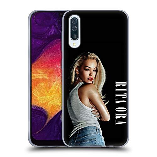 Head Case Designs Offizielle Rita Ora Kalender Februar Kunst Soft Gel Hülle für Samsung Galaxy A50 (2019)