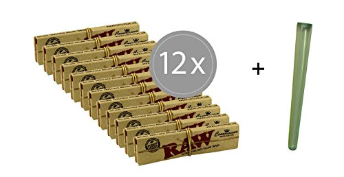 12x RAW Connoisseur Slim Papers inkl. Tips + Joint-Hülle (Papers Rolling Bundle Raw)