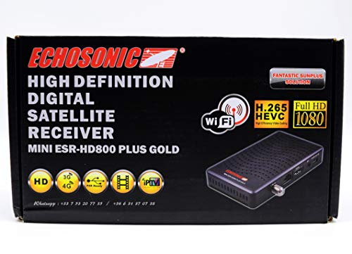 Echosonic Mini ESR-HD800 Plus Gold - 12 Months Smart Plus IPTV + Free WiFi  Key