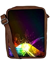 Snoogg Abstract Shiny Wave Background Ic Rgb Sling Bags Crossbody Backpack Chest Day Pack Travel Bag Book Bag...