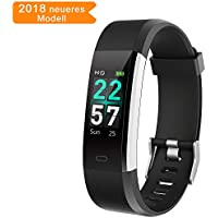 Cotify Fitness Armband Tracker Aktivitätstracker Smartwatch mit Pulsmesser Wasserdicht IP68 Schrittzähler Uhr, Vibrationsalarm Anruf SMS Whatsapp Beachten, Kompatibel mit iOS & Android