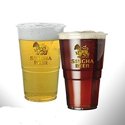 20-x-disposable-plastic-pint-glasses-pint-pots-singha-beer-logo-disposable