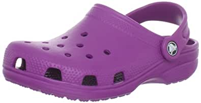 Crocs Unisex Kids' Classic rounded tips purple Size: 5