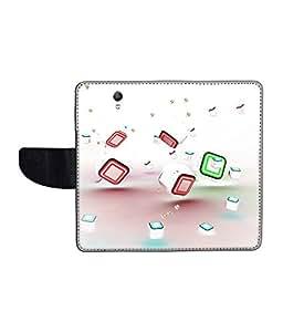 KolorEdge Printed Flip Cover For Lenovo S1 Multicolor - (1478-50KeMLogo11149LenovoS1)